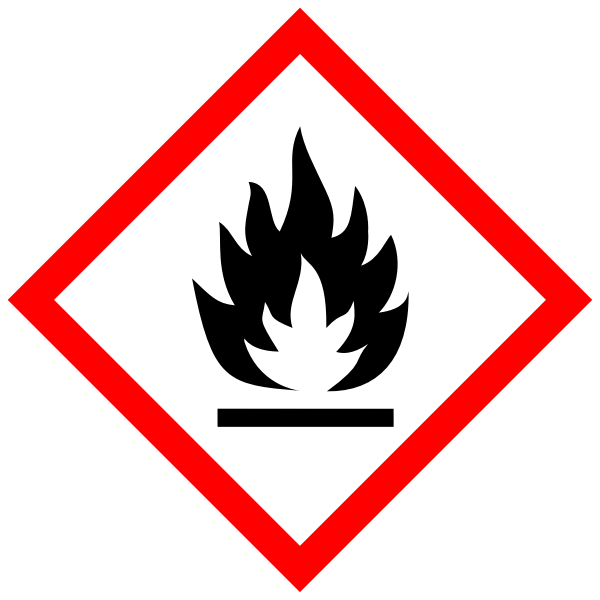 Flammable substances warning