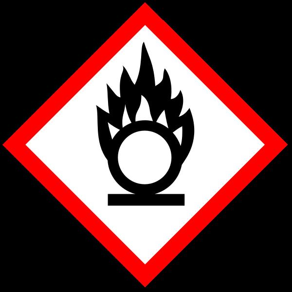 Oxidizing substances warning