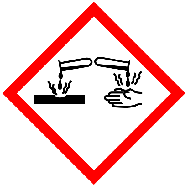 Corrosive substances warning