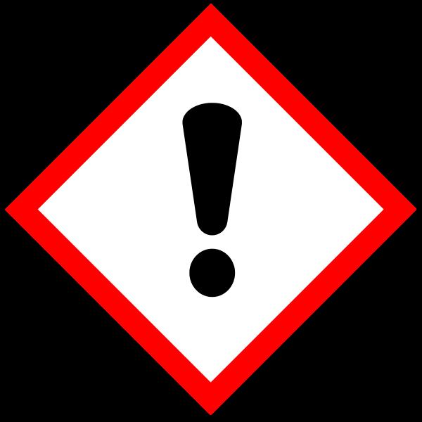 Vector symbol for hazardous substances