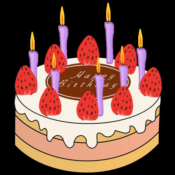 Strawberry Birthday Cake | Free SVG