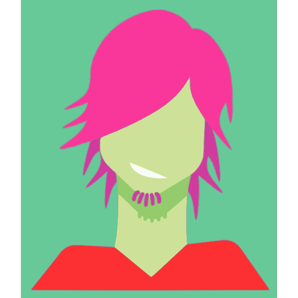 Girl with pink hair vector image