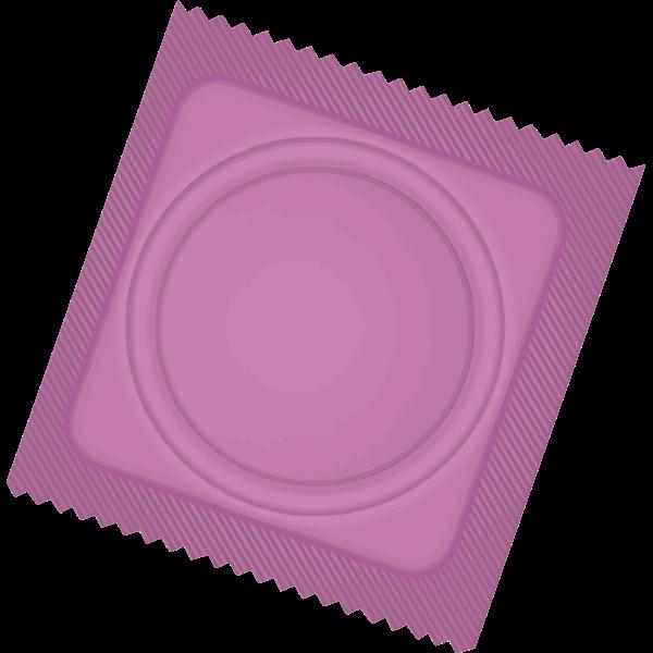 Pink condom package