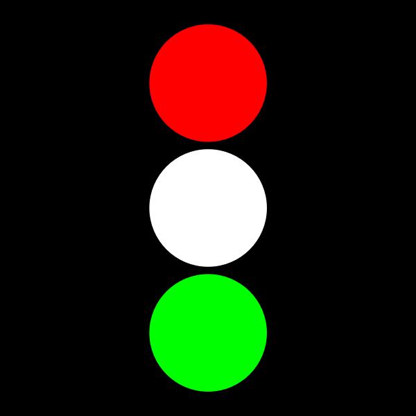 Red & green traffic light indicator