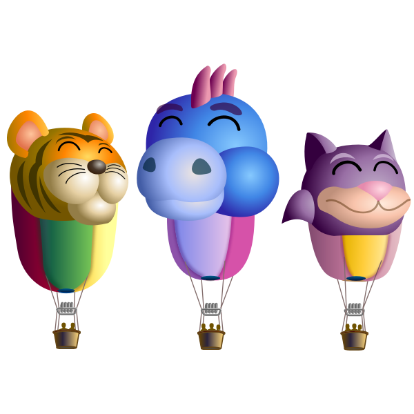 Air balloons with animals