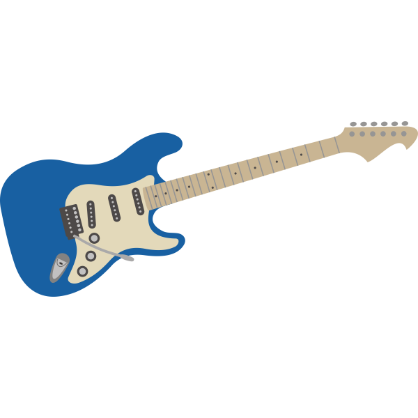 Electric guitar - blue