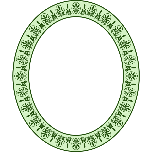 Elliptical Greek arabesque frame 2 (colour)