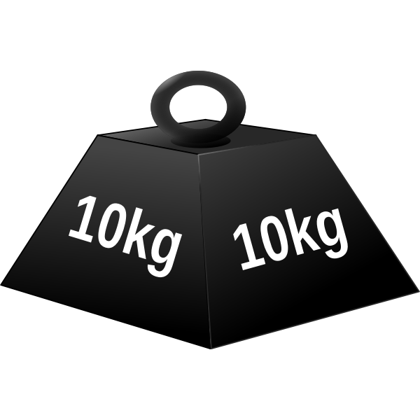 10 kg weight(white character)