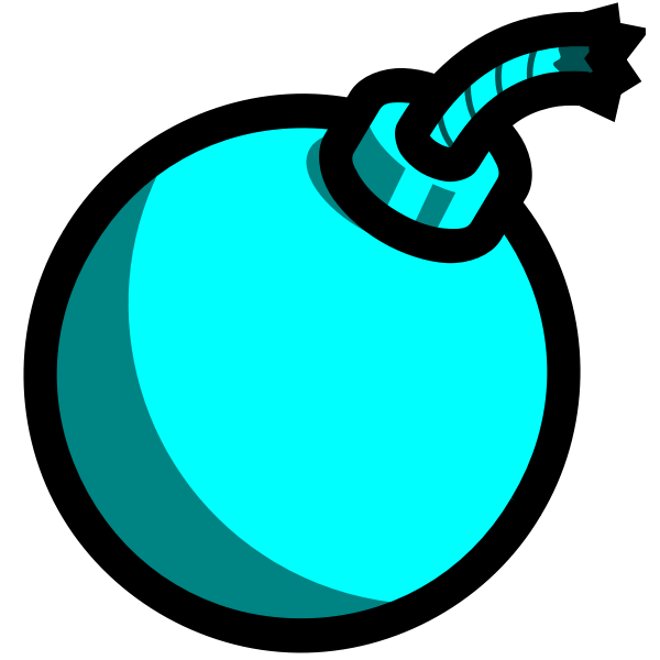 Cartoon bomb (light blue)