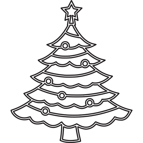 Christmas tree 6 (outline)
