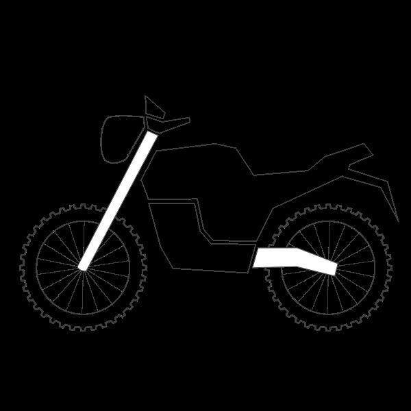 Mountain bike classic outline