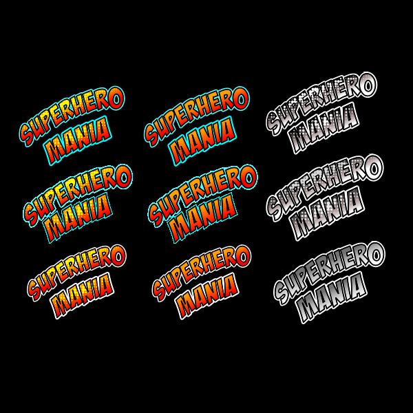 SuperHero Mania Comics Text