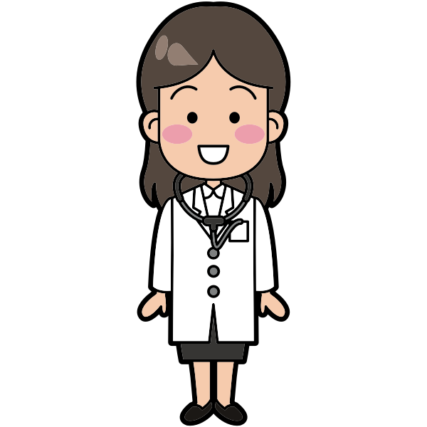 Female doctor vector illustration