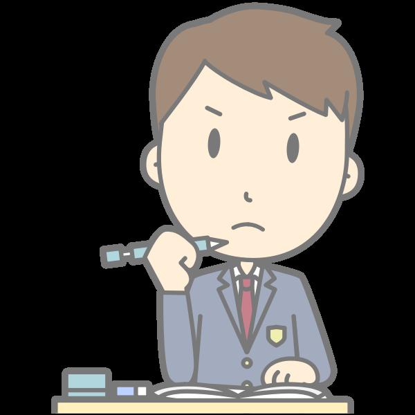 Grumpy student vector illustration