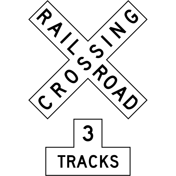 Railroad Sign Assembly MUTCD R15-1 with R15-2P (U.S.A.)