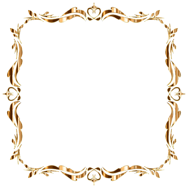 Vintage Frame Derivative Gold No Background