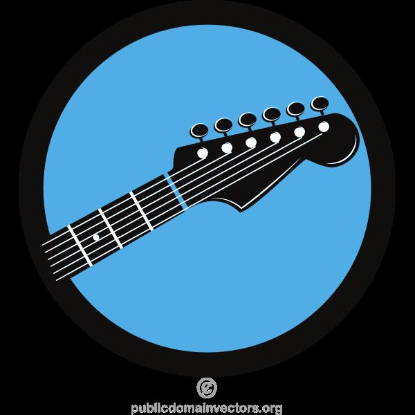 Music shop vector logotype
