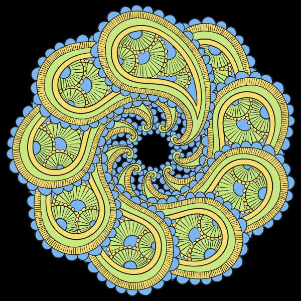 Paisley Mandala | Free SVG
