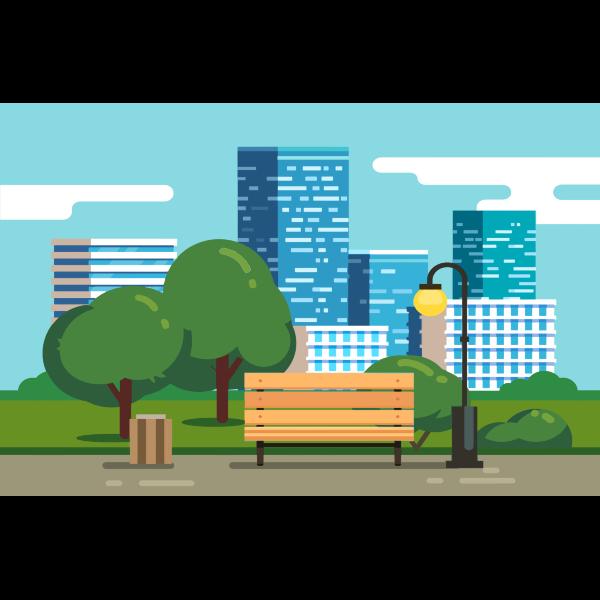 Stylized City Park