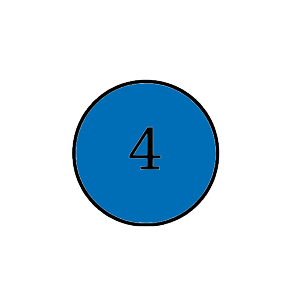 Number four blue icon