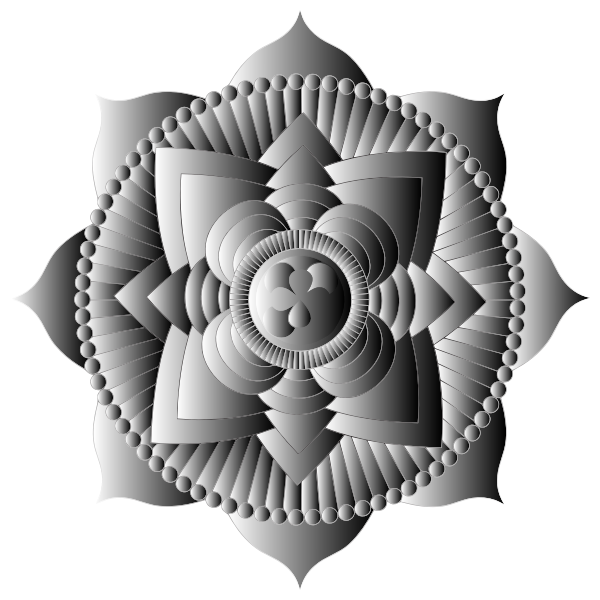 Prismatic Lotus Mandala Line Art 12