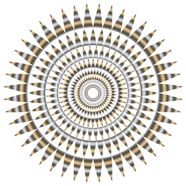 Abstract metallic vortex