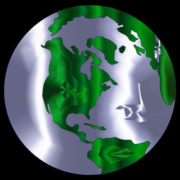 Earth Globe Stylized