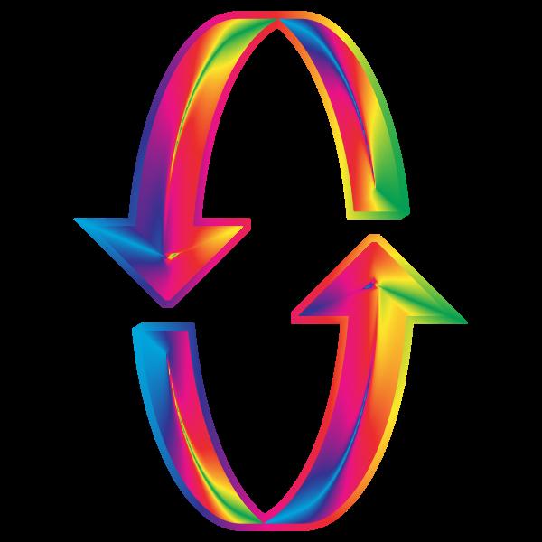 3D Prismatic Arrows 2