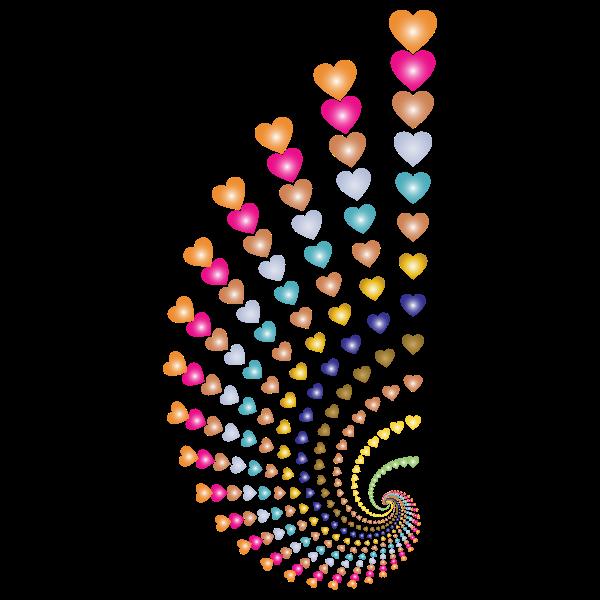 Hearts swirl design