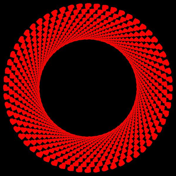Red hearts shutter vortex