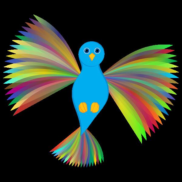 Flying Prismatic Dove