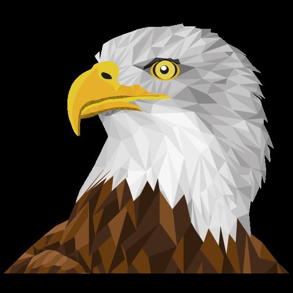 Low Poly Bald Eagle By Sharpi1980