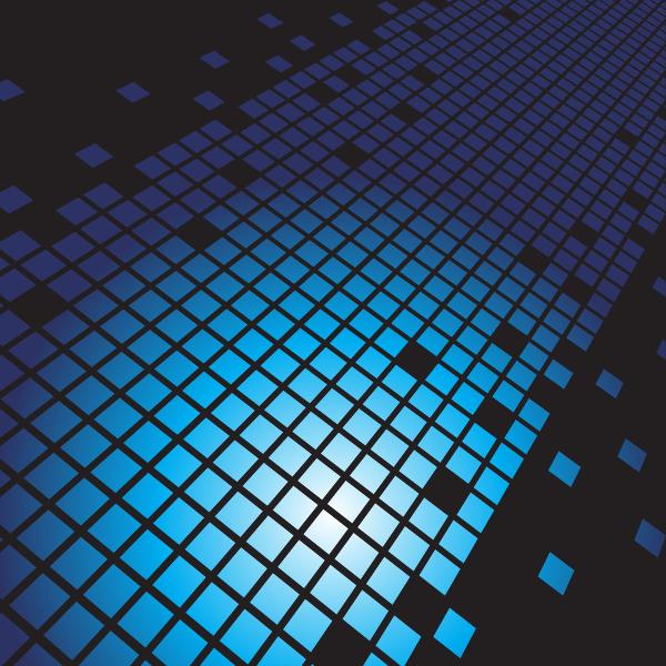 Abstract blue tiles vector design