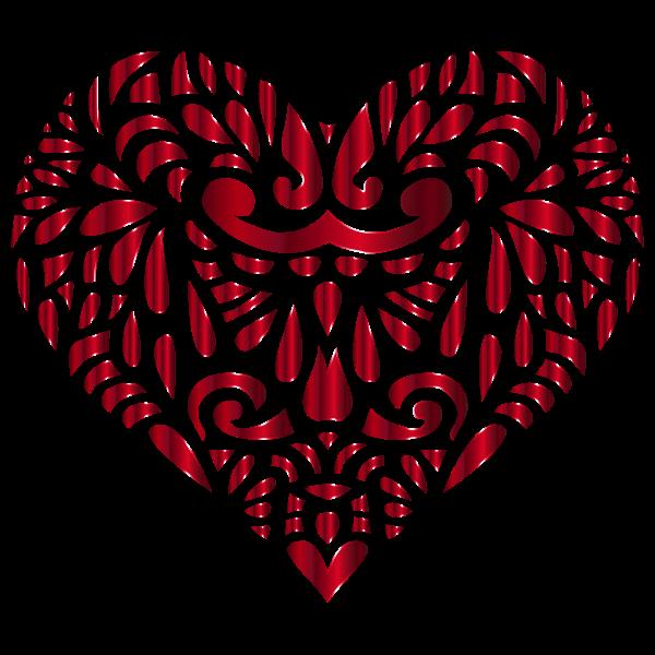 Decorated Crimson Heart