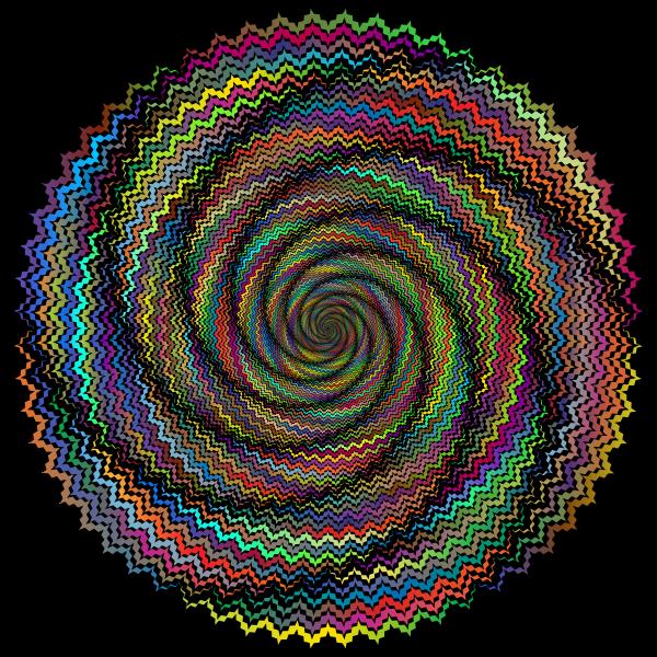 Decorative Abstract Prismatic Vortex