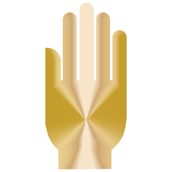 3D Hand Silhouette Radiant