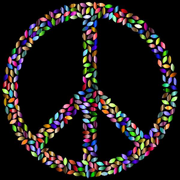 Petals Peace Sign Prismatic 2