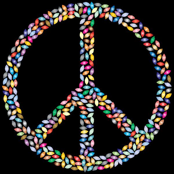Petals Peace Sign Prismatic 3