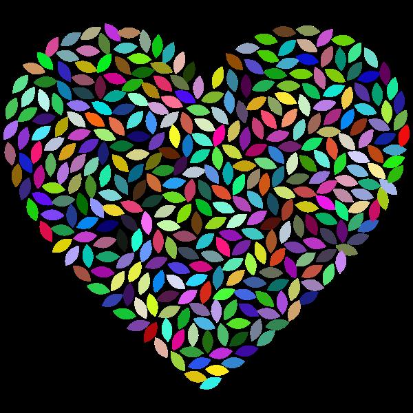Petals Heart Prismatic