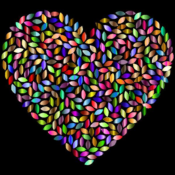Petals Heart Prismatic 3