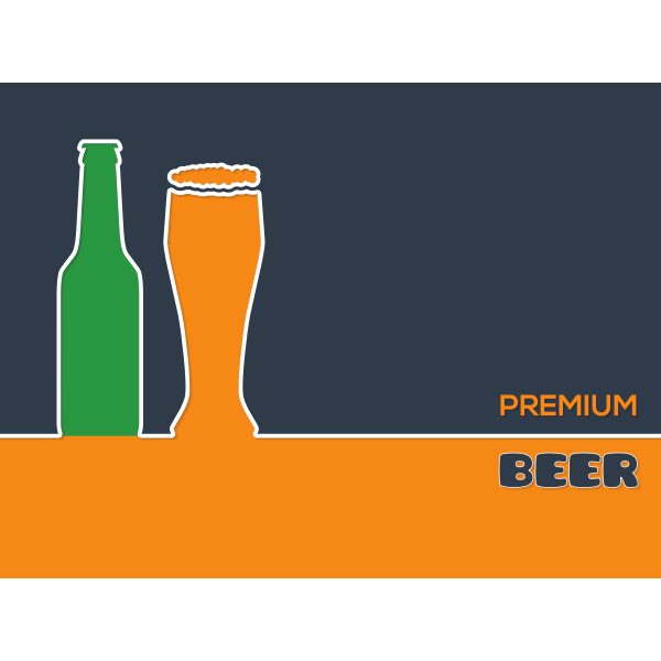 Premium beer vector background
