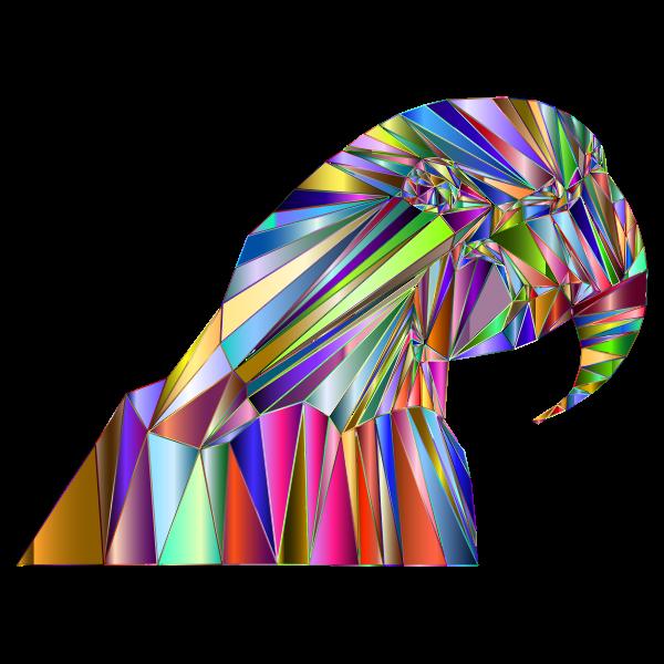 Low Poly Macaw By Emmie Norfolk Chromatic