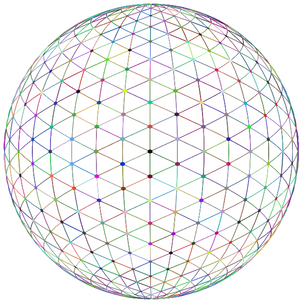 Network Sphere Prismatic No BG