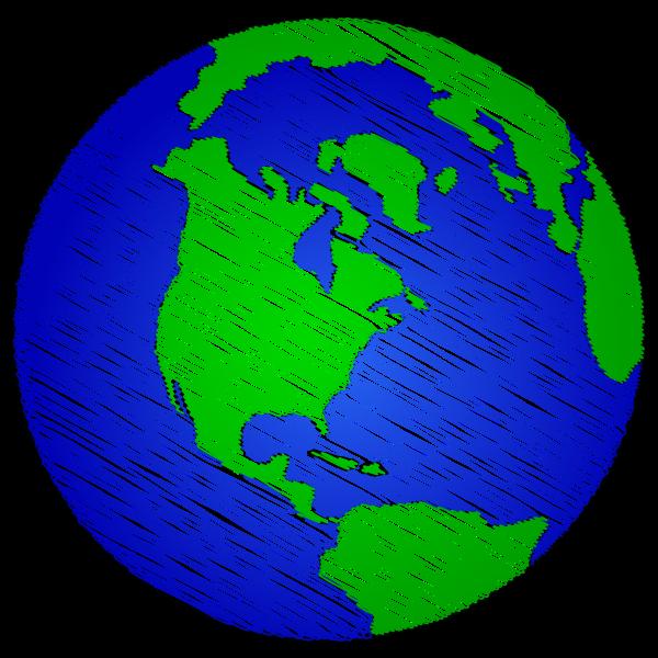 Simple Earth Sketch 2