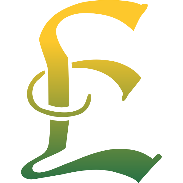 Yellow and green letter