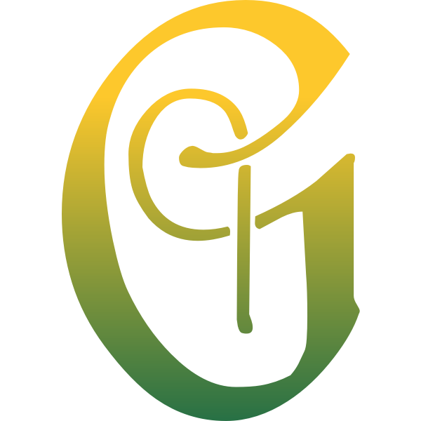 G letter in green and yellow