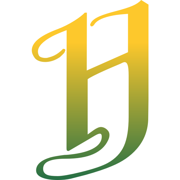 Green and yellow letter H