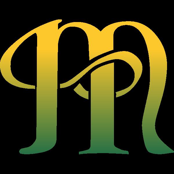Green letter M