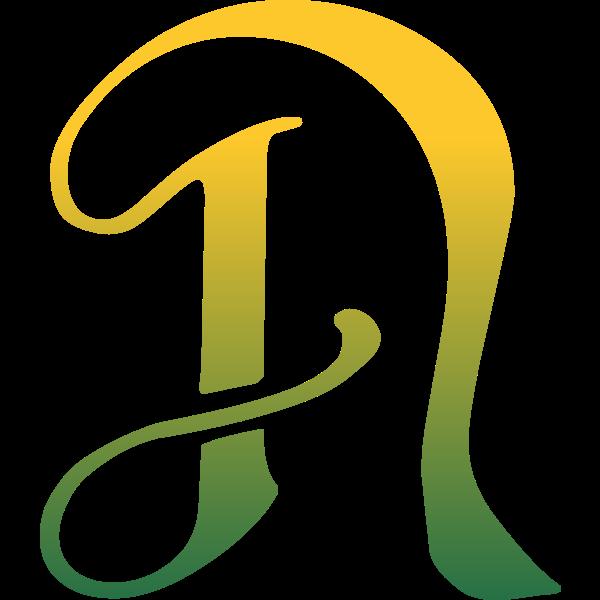 Green N letter