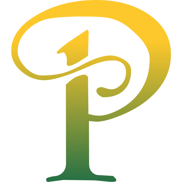 Letter P in arty style